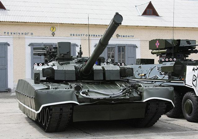 Tanque Oplot das Forças Armadas ucranianas (foto de arquivo)