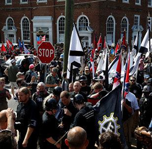 Manifestação da extrema-direita norte-americana em Charlottesville, EUA, em 12 de agosto de 2017