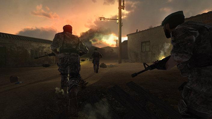 Imagem do game Batalha no Golfo de Áden 2 que mostra luta dos militares iranianos contra piratas somalis