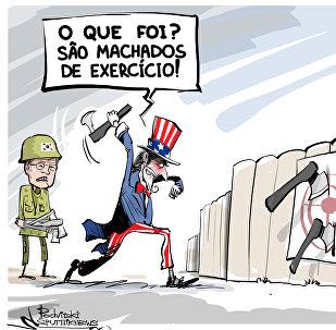 'Machados de exercício' antecipam uma guerra real?