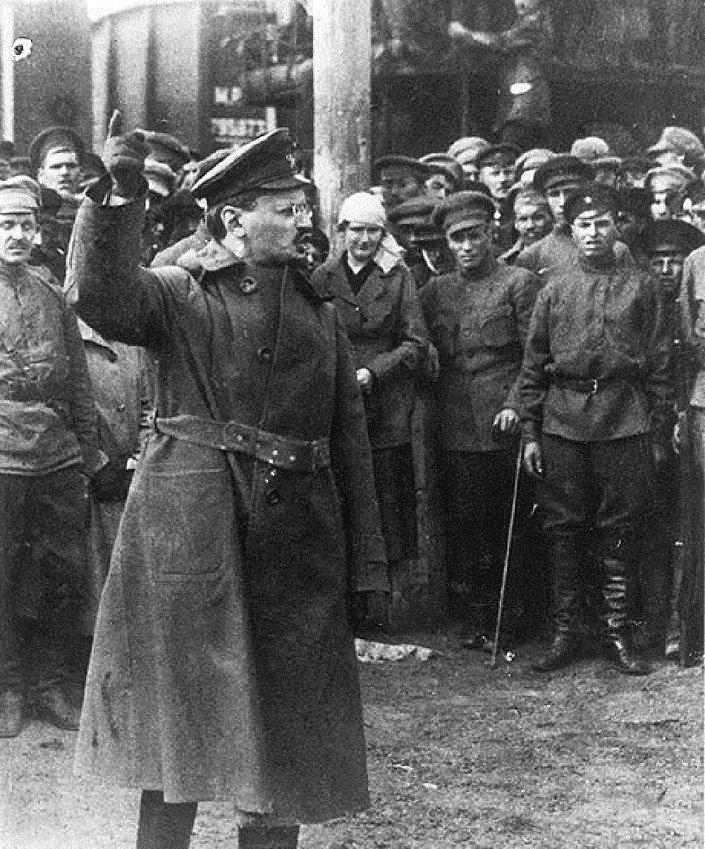 Um discurso de León Trotsky