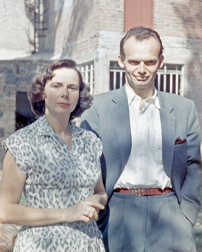 Esteban Volkov e sua esposa em 1959