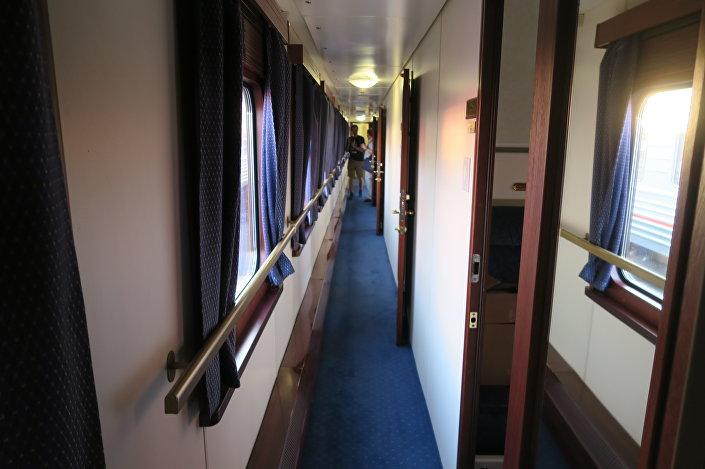 Um vagão do trem Rússia Imperial