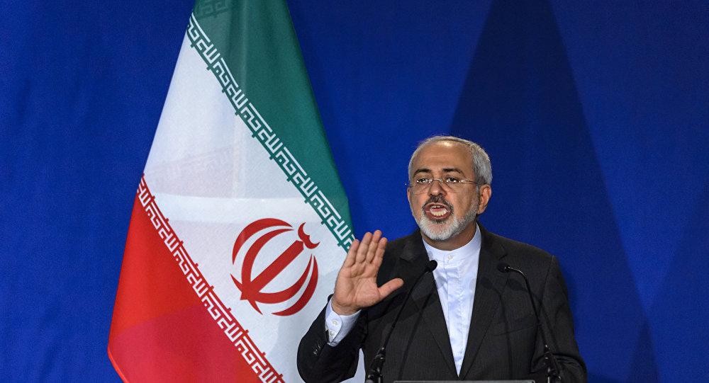 Mohammad Javad Zarif, ministro das Relações Exteriores do Irã, durante uma coletiva de imprensa (arquivo)