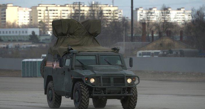 Um veículo de combate russo