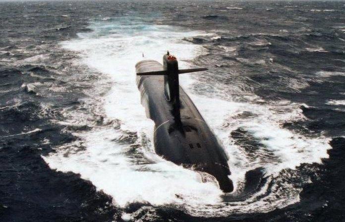 Submarino francês Le Téméraire da classe Le Triomphant