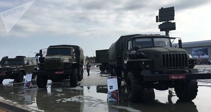 Morteiro pesado 2S12 Sani na exposição do fórum militar EXÉRCITO 2017