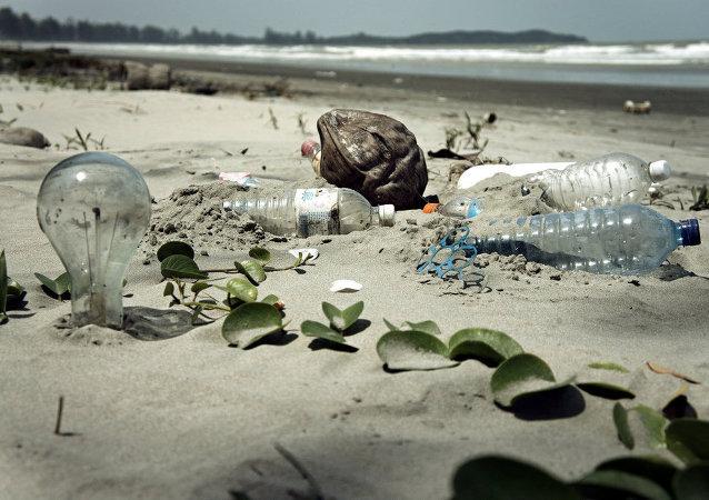 Praia repleta de lixo (imagem referencial)