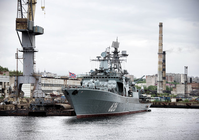 Destróier da Marinha russa Vice-Almirante Kulakov