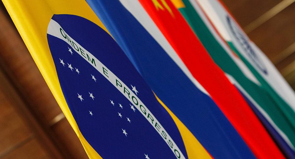 Bandeiras dos países-membros do BRICS