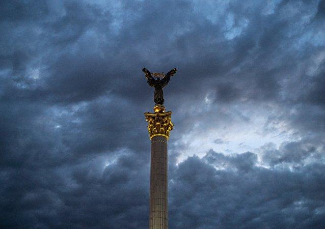 Monumento da Independencia em Kiev, Ucrânia