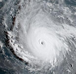 Imagem do furacão do espaço (imagem referencial)
