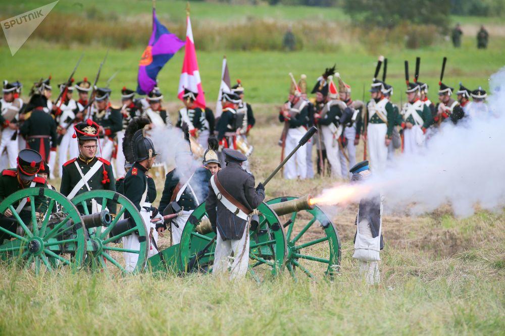 Festival histórico-militar internacional Dia de Borodino, dedicado à famosa batalha de Borodino entre o exército de Napoleão e exército imperial russo em 7 de setembro de 1812
