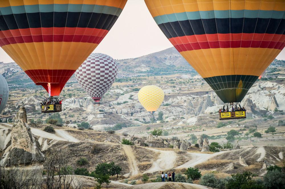 Balões na região turca de Cappadocia