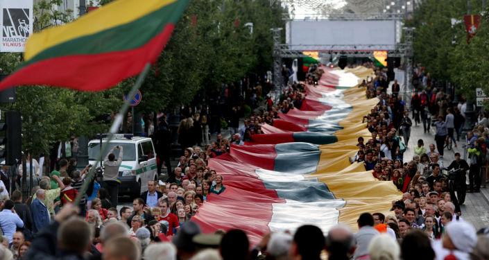 Bandeiras da Lituânia em Vilnius (foto de arquivo)