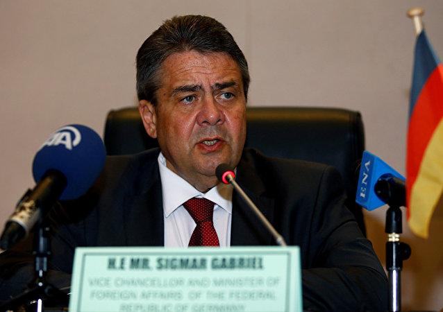 Ministro alemão das Relações Exteriores, Sigmar Gabriel (foto de arquivo)