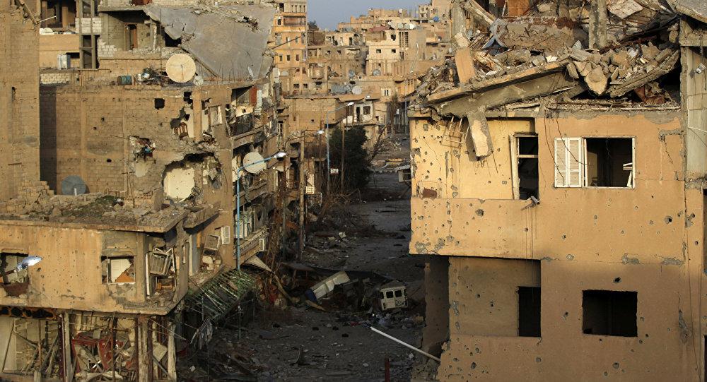 Edifícios destruidos em Deir ez-Zor