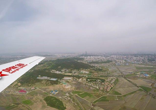 Voo sobre Pyongyang