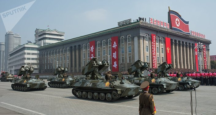 As solenidades dedicadas ao aniversário 105-o do dia de nascimento de Kim Il-sung, Pyongyang, Coreia do Norte (foto de arquivo)
