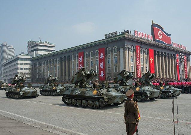 Solenidades dedicadas ao 105º aniversário de Kim Il-sung em Pyongyang, Coreia do Norte (foto de arquivo)
