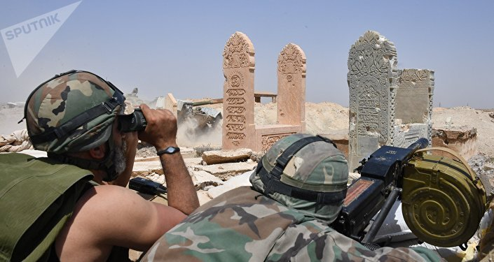 Soldados sírios em Deir ez-Zor