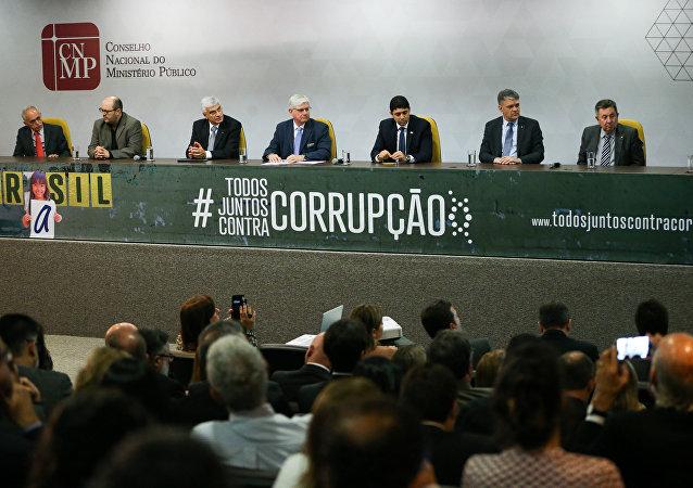 Lançamento da campanha Todos juntos contra a corrupção, no Conselho Nacional do Ministério Público