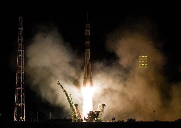 Soyuz MS-06 decolou com sucesso do Cosmódromo de Baikonur, no Cazaquistão
