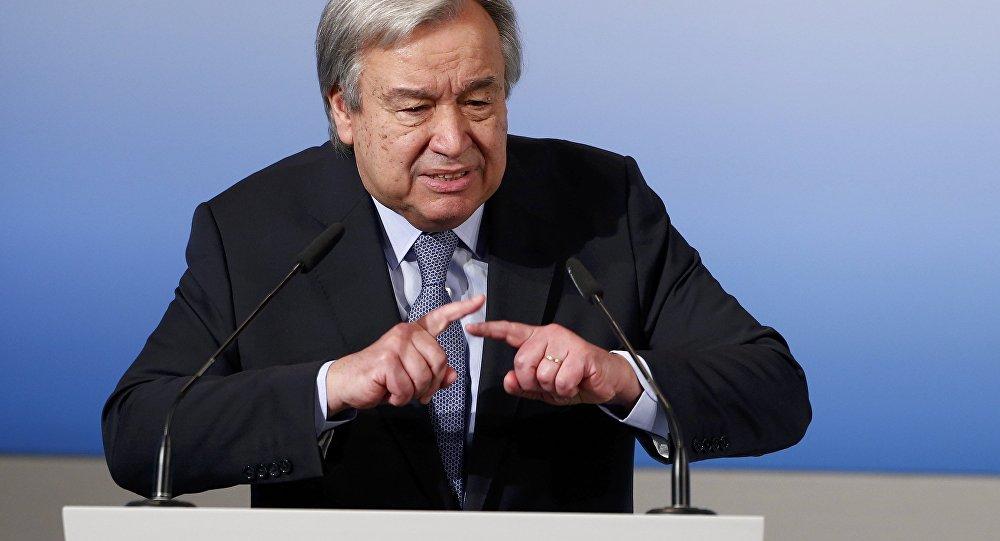 O secretário-geral da ONU, António Guterres (foto de arquivo)
