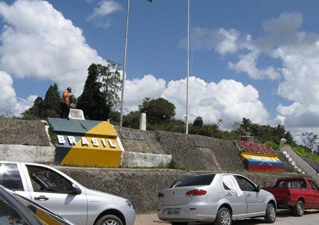 Fronteira Brasil x Venezuela em Pacaraima