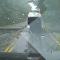 Árvore cai em estrada devido a ventos fortes na Geórgia (EUA)