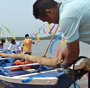 Sairé, festa realizada na vila balneária de Alter-do-Chão no Pará.