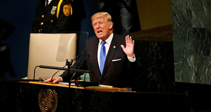 Donald Trump, presidente dos Estados Unidos, em discurso na 72ª Assembleia Geral da ONU