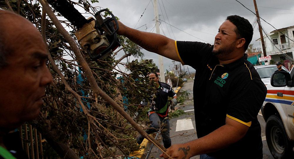 Efeitos da passagem do furacão Maria por Porto Rico (arquivo)