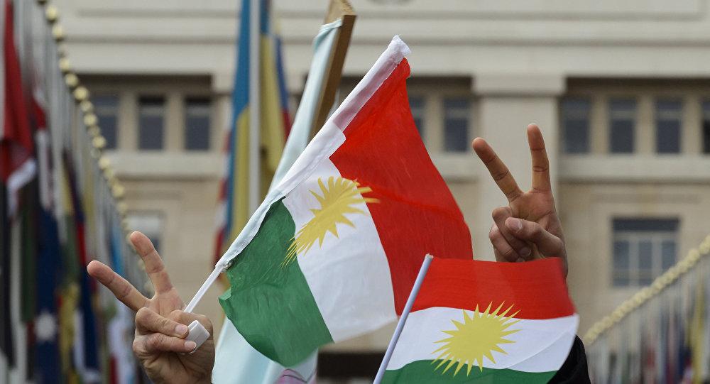 Bandeiras de Curdistão. (File)