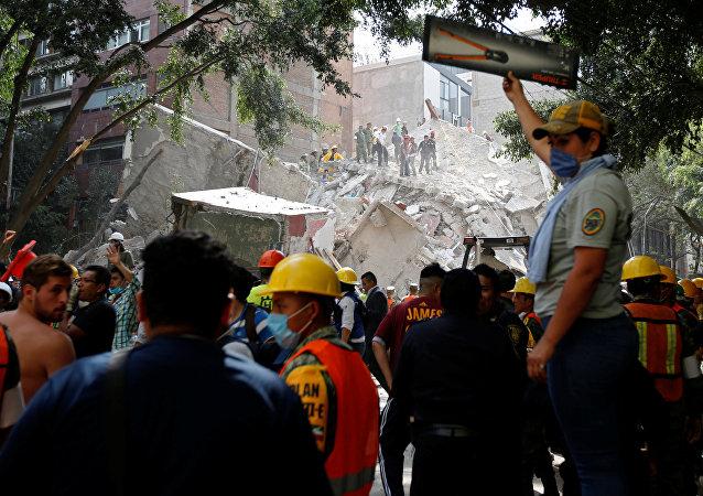 Consequências de terremoto no México (foto de arquivo)