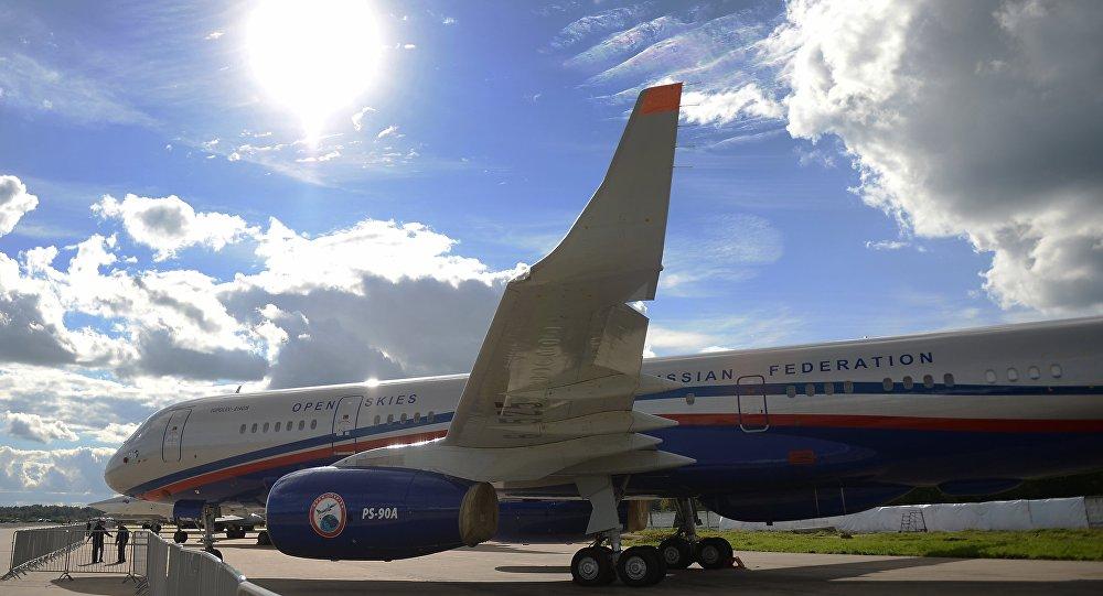 Avião de reconhecimento russo Tu-124ON criado para sobrevoar territórios dos países-membros do Tratado de Céus Abertos