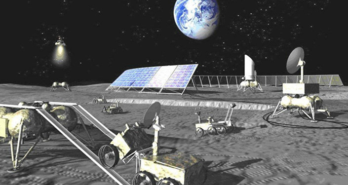 Base lunar futura da Rússia na imaginação do artista