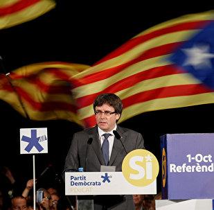 Chefe do governo da Catalunha, Carles Puigdemont