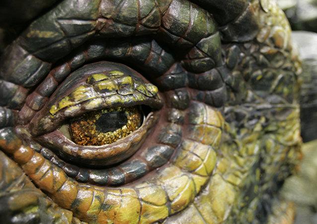 Imagem do dinossauro Ankylosaurusem 20 de junho de 2007 em Tacoma