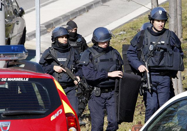 Agentes de elite da polícia francesa em Marseille (arquivo)