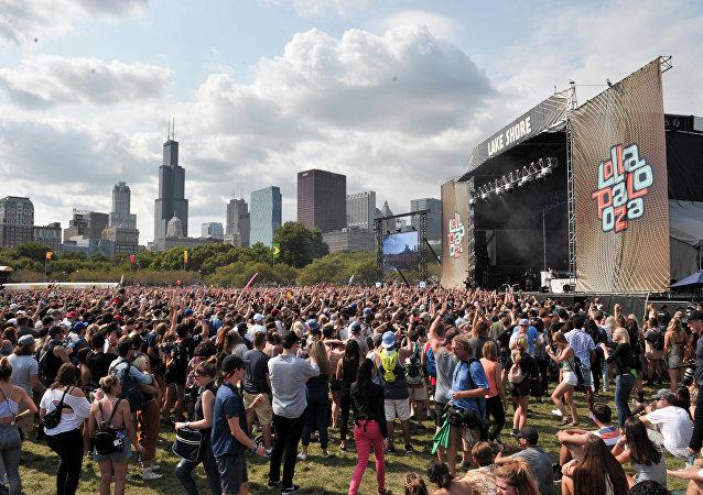 Imagem do Grant Park, em Chicago, onde foi realizada a edição 2017 do festival Lollapalooza