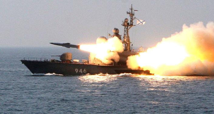Lançamento de um míssil supersônico russo