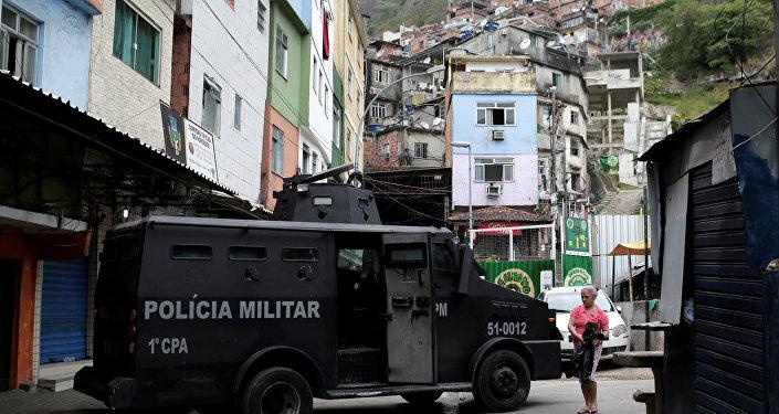 Situação na Rocinha, no Rio de Janeiro, em 2 de outubro de 2017