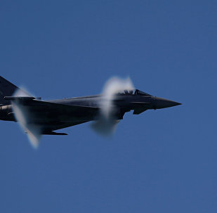 Caça Eurofighter da Força Aérea da Espanha (foto de arquivo)