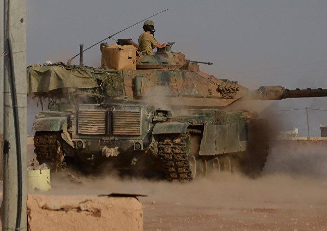 Tanque turco na Síria