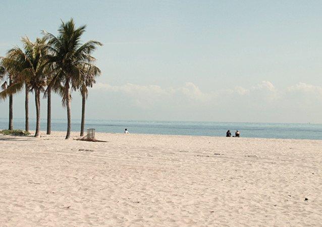 Praia em Miami, Flórida