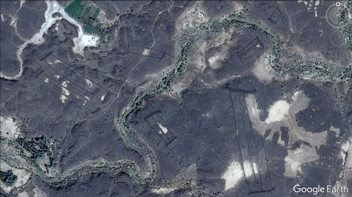 Estruturas misteriosas descobertas na Arábia Saudita (imagem tirada por satélites)