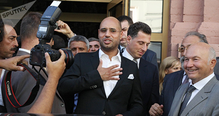 O segundo filho de Muammar Kadhafi, Seif Islam