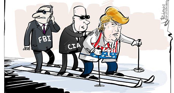 FBI e CIA dando aquela empurradinha na vida política de Trump