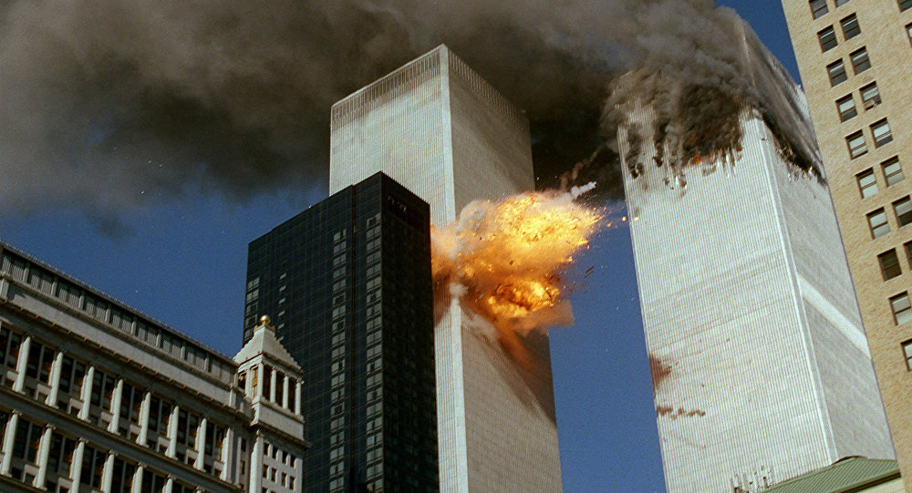 Momento do ataque ao World Trade Center em 11 de setembro de 2001, Nova York
